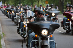 Bikers ride Royalty Free Stock Photo