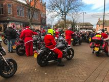CFM bikers cash for kids. Bikers ride out in Carlisle for CFM cash for kids royalty free stock images