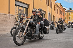Bikers riding American motorcycles Royalty Free Stock Photography