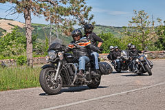 Bikers riding Harley Davidson Stock Photography