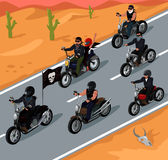 Bikers Riding on the Highway Design Stock Image