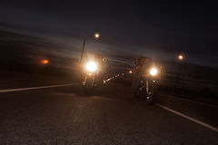 Bikers on road. Shot in motion Stock Photography