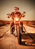 Bikers on the road Stock Photography