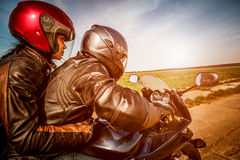 Bikers on the road Royalty Free Stock Photography
