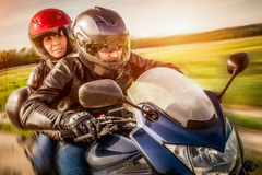 Bikers on the road Royalty Free Stock Images