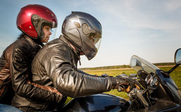 Bikers on the road Stock Photo