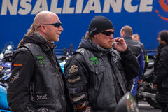 Bikers in Shades Royalty Free Stock Photography