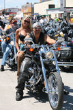 Bikers at Sturgis Bike Rally Royalty Free Stock Images