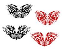 Bikers tattoos with flames Royalty Free Stock Photography