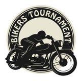 Bikers Tournament label Royalty Free Stock Photos