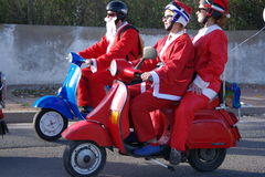 Bikers xmas parade Stock Image