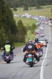 Bikers in yellowstone Stock Photo