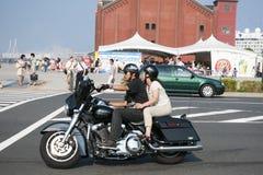 Bikers in Yokohama Royalty Free Stock Image