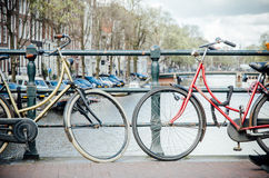 bikes amsterdam Стоковые Изображения