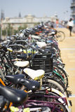 Bikes of Amsterdam. Bike park in Amsterdam, rows and rows of bikes in a multi-storey Royalty Free Stock Photos