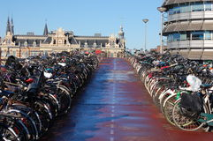 Bikes in Amsterdam, Holland  Royalty Free Stock Image