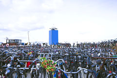 Bikes in Amsterdam Netherlands Royalty Free Stock Images