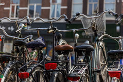 Bikes of Amsterdam. Bikes in Amsterdam on the street Royalty Free Stock Image