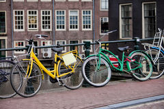 Bikes in Amsterdam Royalty Free Stock Photography