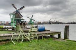 Bikes, Amsterdam, windmills, Holland