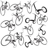 Bikes background illustration Stock Photos