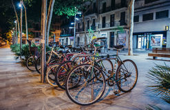 Bikes in Barcelona Royalty Free Stock Images