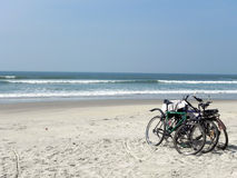 Bikes at the beach south Goa india 2016 Stock Photography