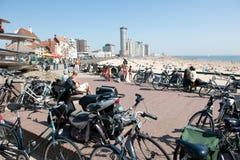 Bikes on the boulevard in Vlissingen. Netherlands Royalty Free Stock Photo