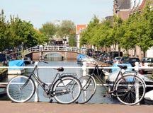 Bikes on the bridge Stock Photos
