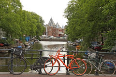 Bikes and Canals Stock Photography