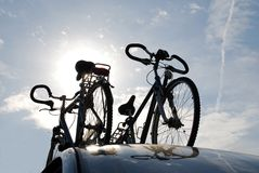 Bikes on car Royalty Free Stock Image
