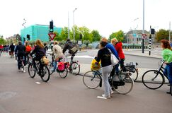 Rush Hour, Bikes in the City, Europe Outdoor Lifestyle, Amsterdam