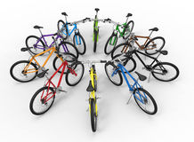 Bikes color diversity concept Stock Photography