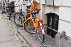 Bikes in Copenhagen, Denmark Stock Images
