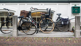Bikes in Haarlem Stock Images