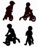 bikes i bambini Immagine Stock