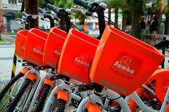 bikes il pubblico fotografia stock
