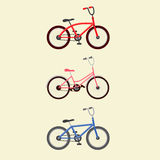 3 bikes illustration Stock Photo