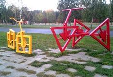 Bikes installation stock photography