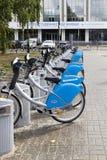 The bikes in  kazan university , russian federation Royalty Free Stock Image