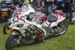 Bikes at the killarney custom show Royalty Free Stock Image