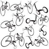 Bikes l'illustrazione della priorità bassa Fotografie Stock