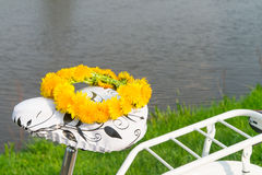 Bikes and lei flower wreath Royalty Free Stock Photos