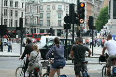 Bikes in London Royalty Free Stock Photography