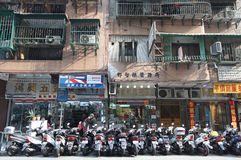 Bikes in Macau street Royalty Free Stock Images