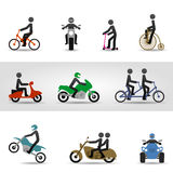 Bikes and motorcycles. Cycles, scooter, quad and motorcycles. Eps10 Royalty Free Stock Photography