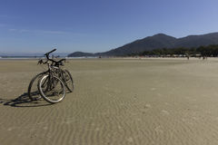 Bikes n the beach Royalty Free Stock Photo