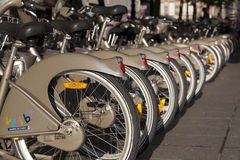 Bikes in Paris, France Stock Image