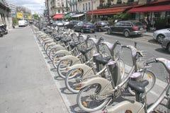 Paris, France Bicycles Royalty Free Stock Photos