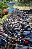 Bikes parked Royalty Free Stock Photography